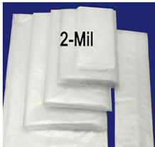 """Clear Plastic 2Mil 3x16/"""" Poly Bags for up-to 15x34/"""" Poster Art Prints Maps Tubes"""